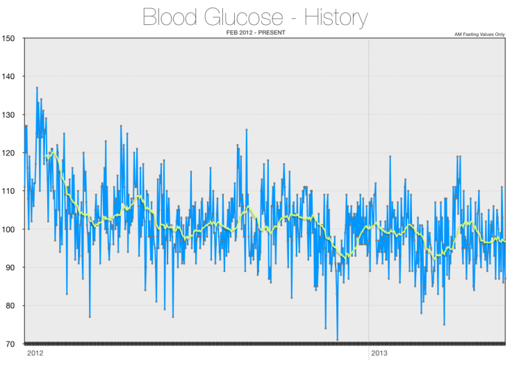 Blood Glucose History (Feb 2012 - Dec 2013)