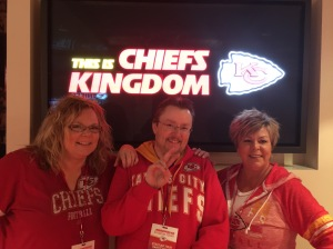 Kim, me and Lisa at Arrowhead Stadium