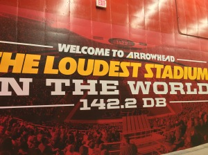 The loudest stadium in the world! WOOOT!