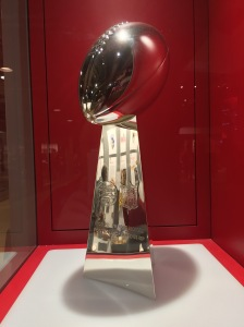 The Vince Lombardi Super Bowl Trophy from the Chief's win at Super Bowl IV